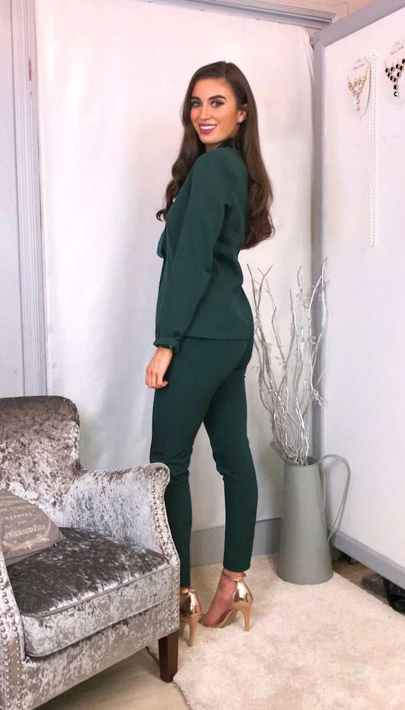 5776 Megan Green Trouser Suit