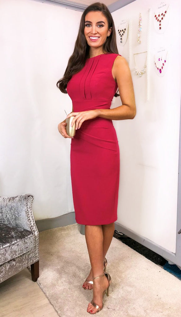 5766 Diva Clara Rose Pencil Dress