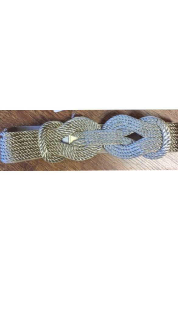 3-1056 Gold Rope Look Elastic Belt