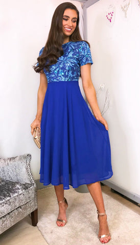 5958 Denise Embellished Ruffle Dress