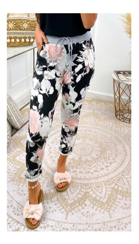 6555 Diamond Print Trousers