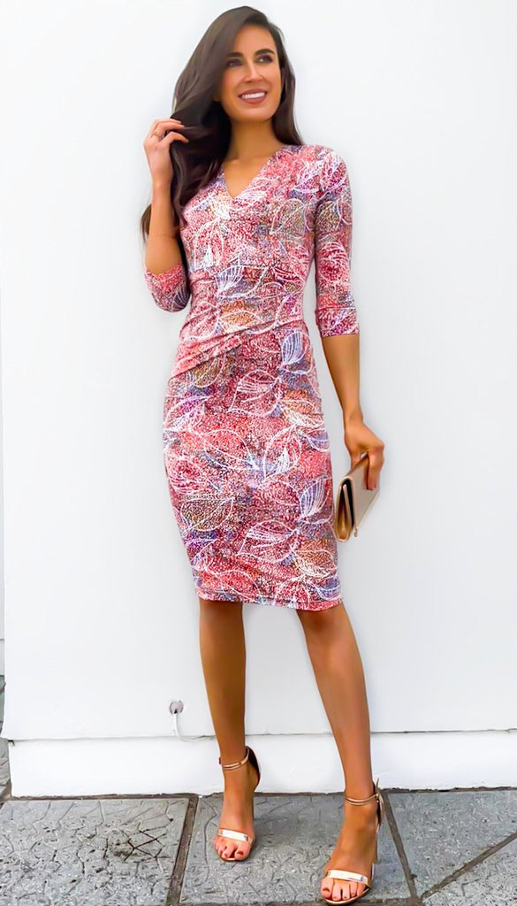 5-6429 - (SIZE 8 ONLY) - Atlantis Multi Rouched Dress