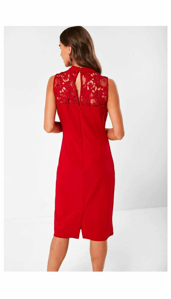 4-5860 - (SIZE 16 ONLY) - Xenia Red Lace Top Dress