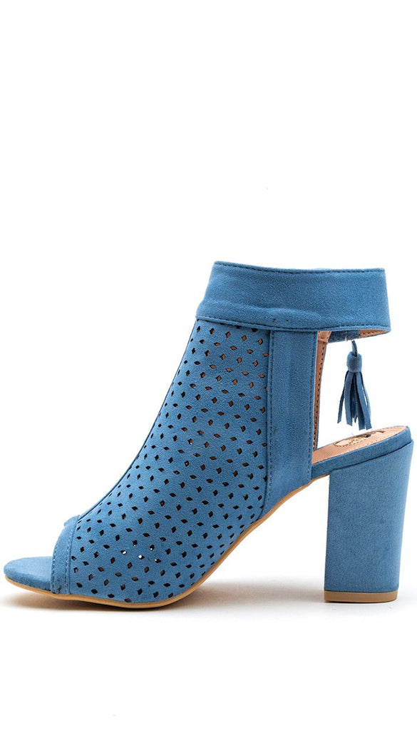 7660 Mavis Blue Peep Toe Boot