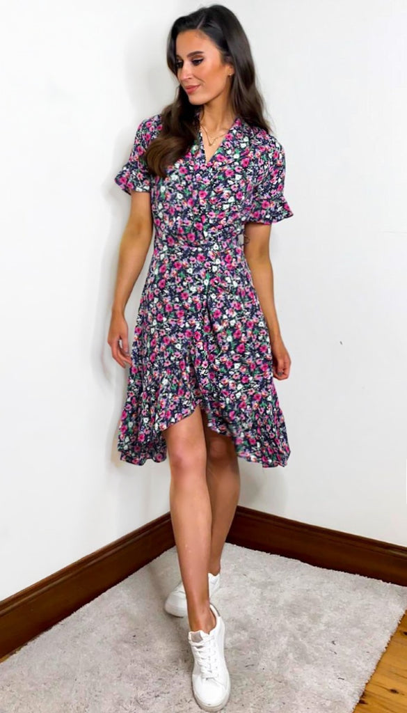 7235 Floral Lucienna Wrap Dress