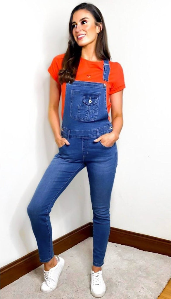 7271 - (SIZE 16 ONLY) - Soft Denim Dungarees