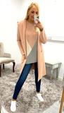 7390 Nude Hooded Cardigan