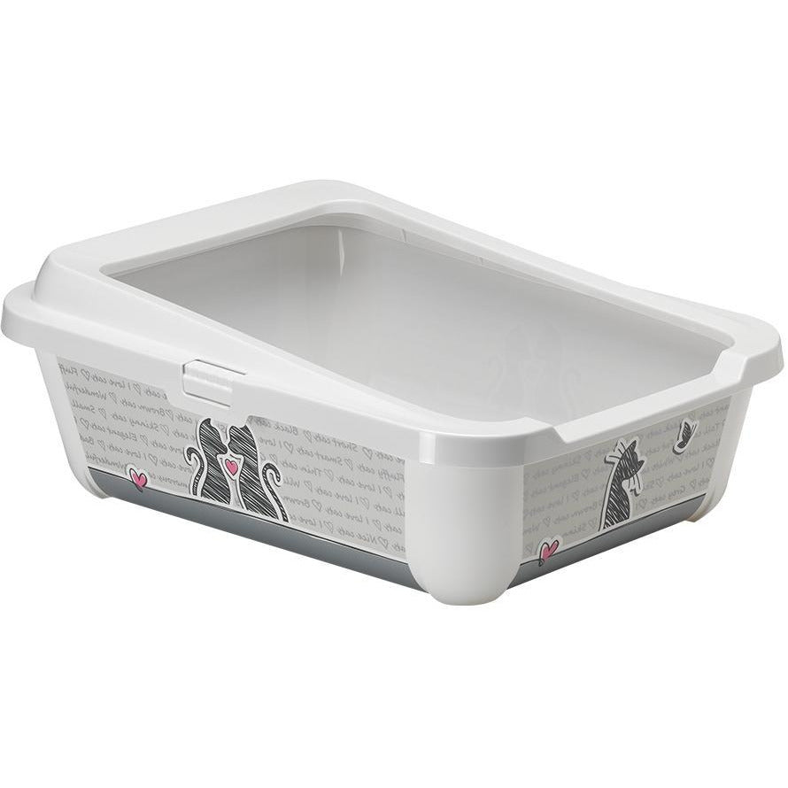 Moderna Cats In Love Hercules Litter Tray with Rim 50cm
