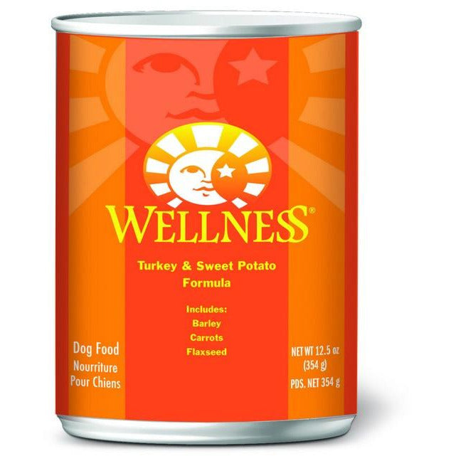 Wellness Turkey and Sweet Potato Formula Dog Canned Food 12.5oz