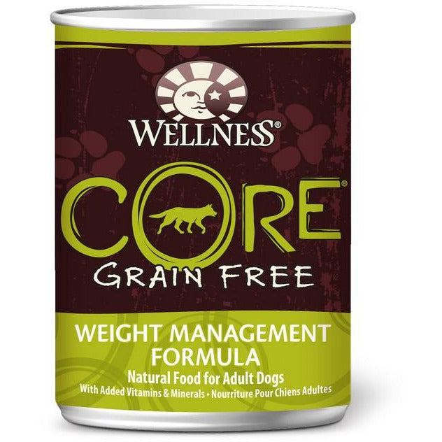 Wellness Core Grain Free Pate Weight Management Dog Canned Food 12.5oz