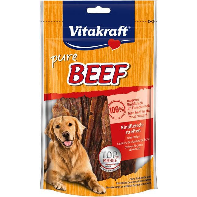 Vitakraft Pure Beef Strips Dog Treat 80g (2Pkt)
