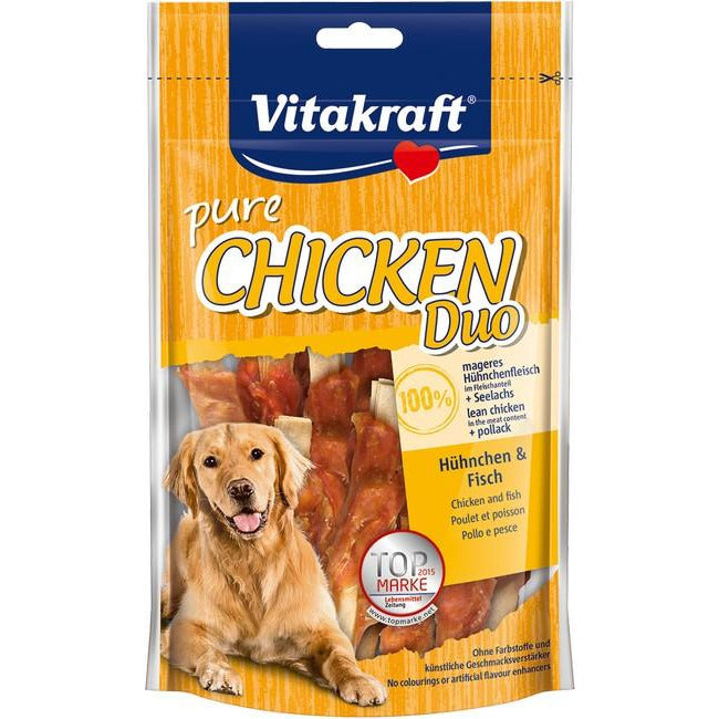 Vitakraft Pure Chicken Duo With Fish Dog Treat 80g (2Pkt)