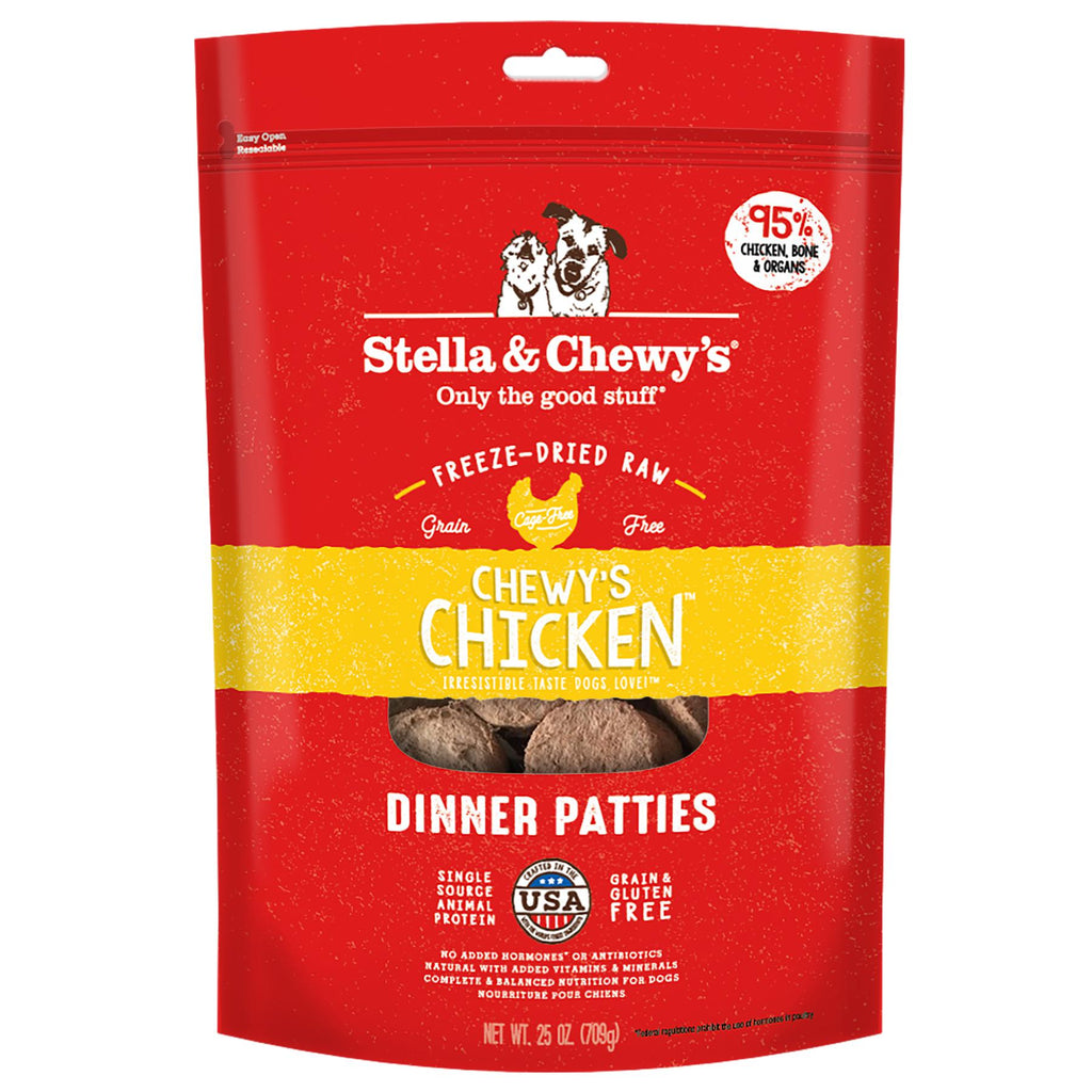 Stella & Chewy's Chewy's Grain Free  Chicken Dinner Patties Freeze-Dried Dog Food 25oz