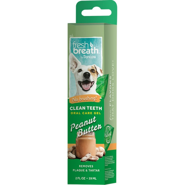 TropiClean Fresh Breath Clean Teeth Gel with Peanut Butter For Dogs  59ml