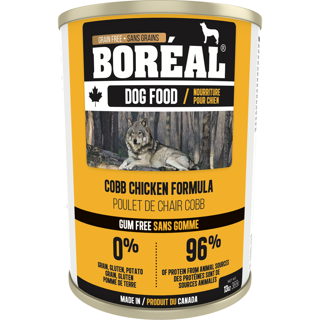 Boreal Cobb Chicken Formula Dog Wet Food 369g (12cans)