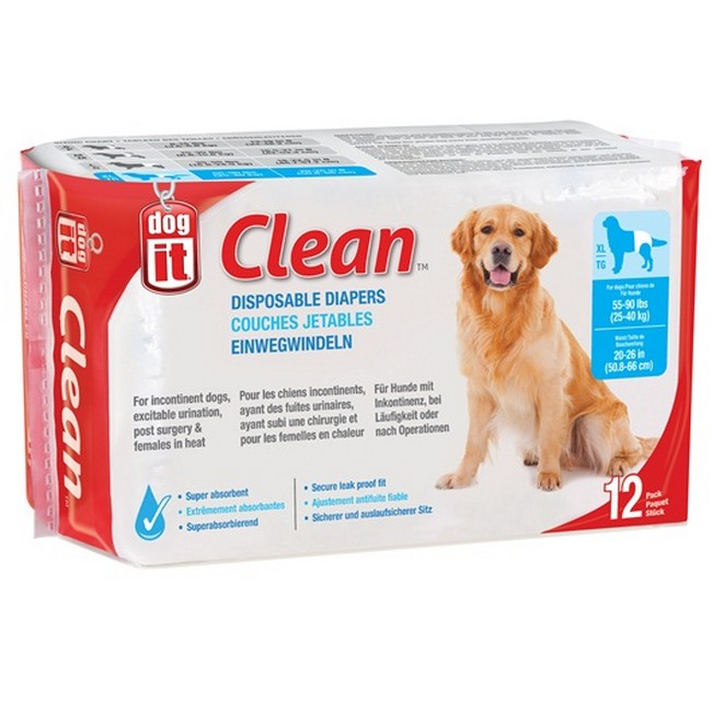 Dogit Clean Disposable Diapers XLarge 12's