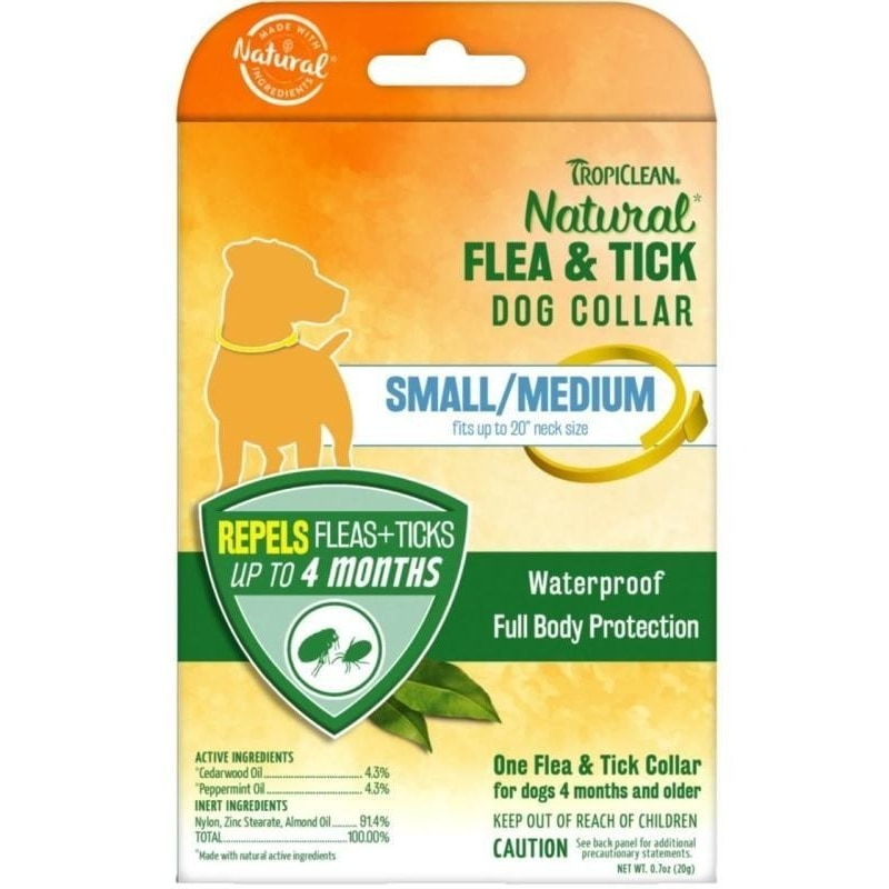 TropiClean Natural Flea & Tick For Small/Medium Dog Collar