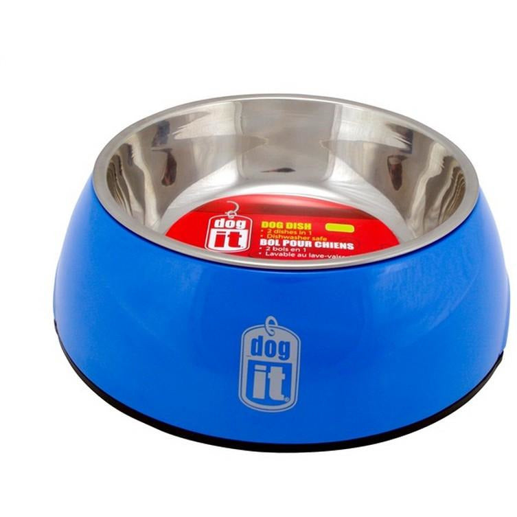 Dogit Dish 2-In-1 Medium Blue