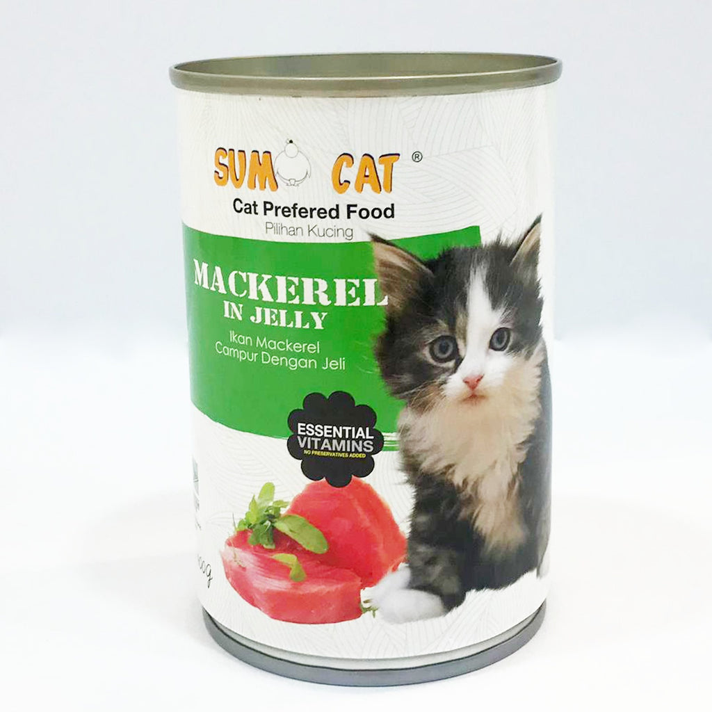 Sumo Cat Mackerel in Jelly Cat Canned Food 400g