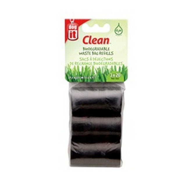 Dogit Clean Waste Bag Refills Biodegradable Black