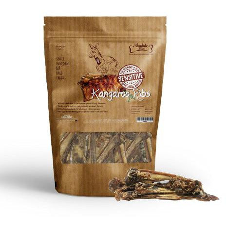 Absolute Bites Air Dried Kangaroo Ribs Dog Treat 300g