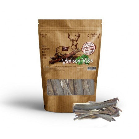 Absolute Bites Air Dried Venison Ribs Dog Treat 200g