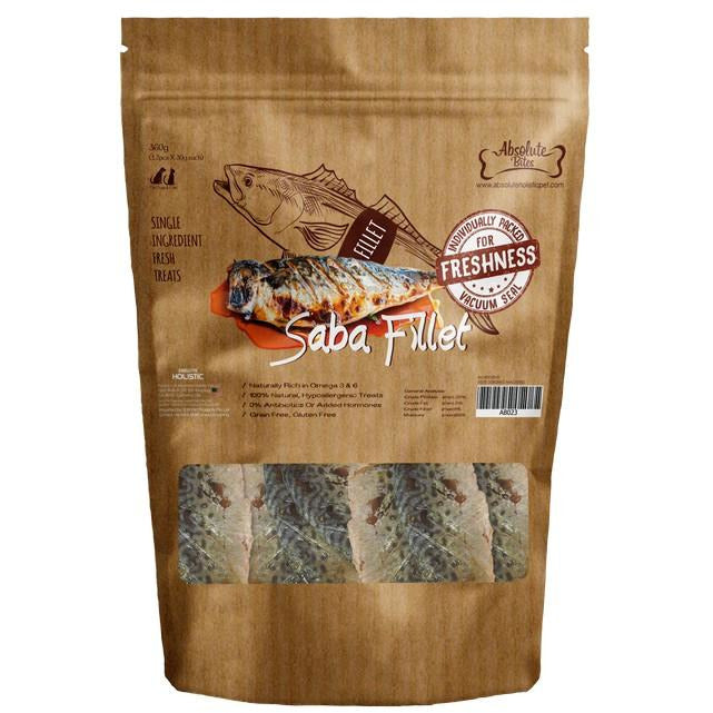 Absolute Bites Fresh Cut Saba Fillet Dog Treat 360g