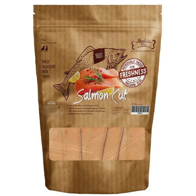 Absolute Bites Fresh Cut Salmon Cut Dog Treat 240g