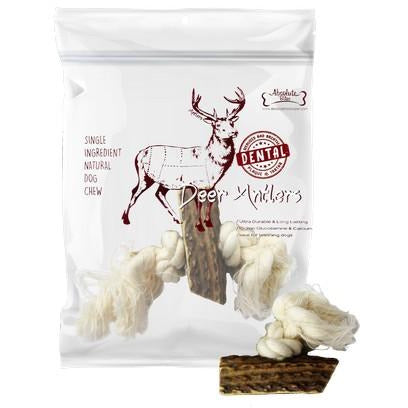 Absolute Bites Deer Antlers Rope Mini