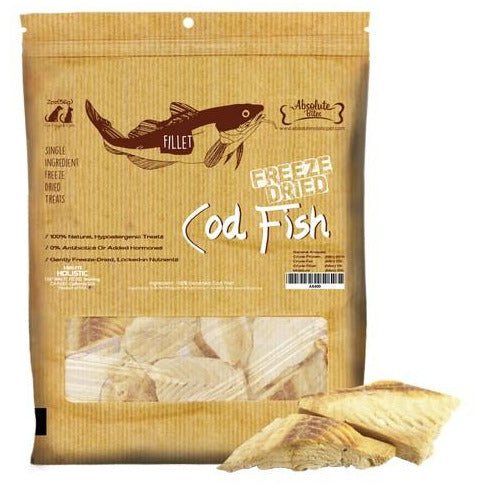 Absolute Bites Freeze Dried Cod Fish For Dogs & Cats 50g