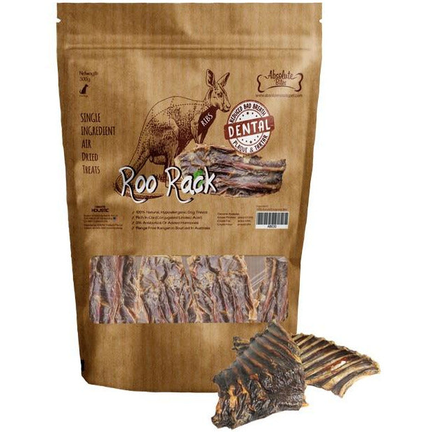 Absolute Bites Air Dried Roo Rack Dog Treat 300g