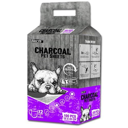 Absorb Plus Charcoal Pet Sheet 35 x 45cm (Small) 100's