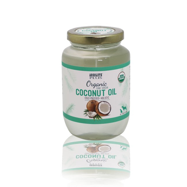 Absolute Plus Organic Raw Virgin Coconut Oil For Dog & Cats 500mL