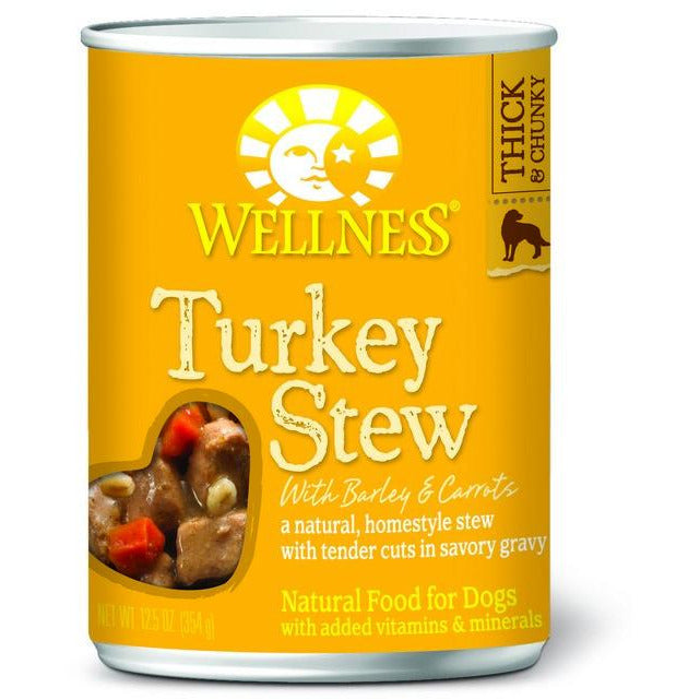 Wellness Turkey Stew with Barley & Carrots Dog Canned Food 12.5oz
