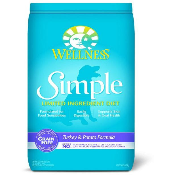 Wellness Simple Grain Free Turkey & Potato Dog Dry Food 26Lb