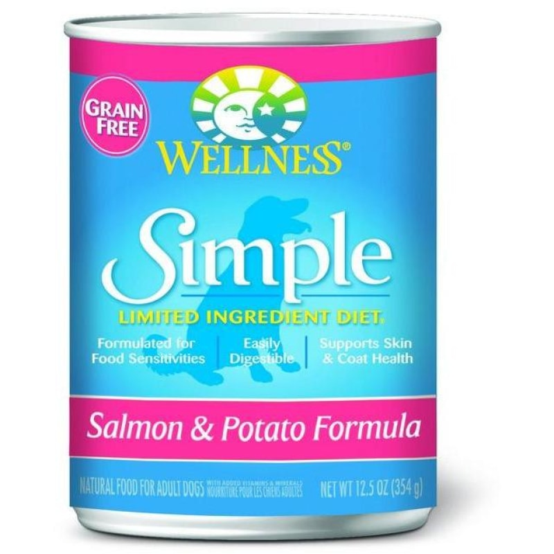 Wellness Simple Limited Ingredient Diet Grain-Free Whitefish & Potato Formula Dog Canned Food 12.5oz