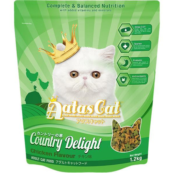 Aatas Cat Adult Catfood Country Delight Chicken Dry Cat Food 1.2kg