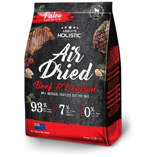 Absolute Holistic Air Dried Beef & Venison Dog Food 1kg
