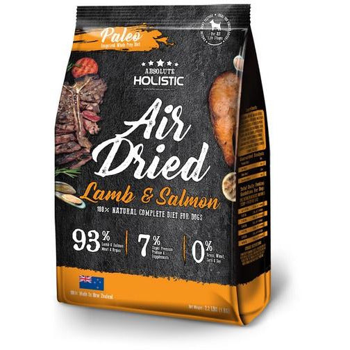 Absolute Holistic Air Dried Lamb & Salmon Dog Food 1kg Bundle (4 Packs)