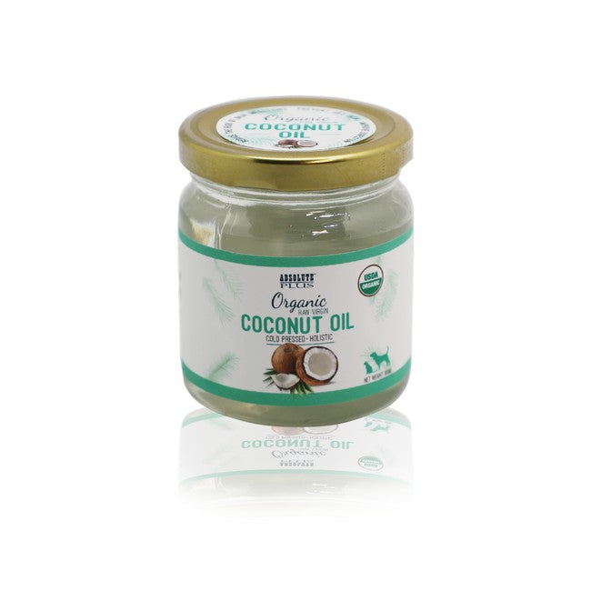 Absolute Plus Organic Raw Virgin Coconut Oil For Dogs & Cats 250ml