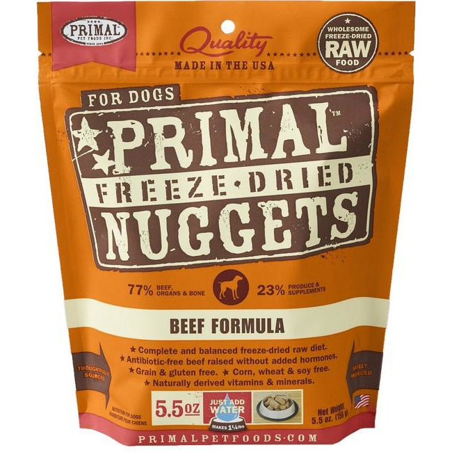 Primal Beef Nuggets Freeze Dog Dried Food 156g