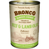 Bronco Beef & Lamb Olio Canned Dog Food 390g (12 Cans)