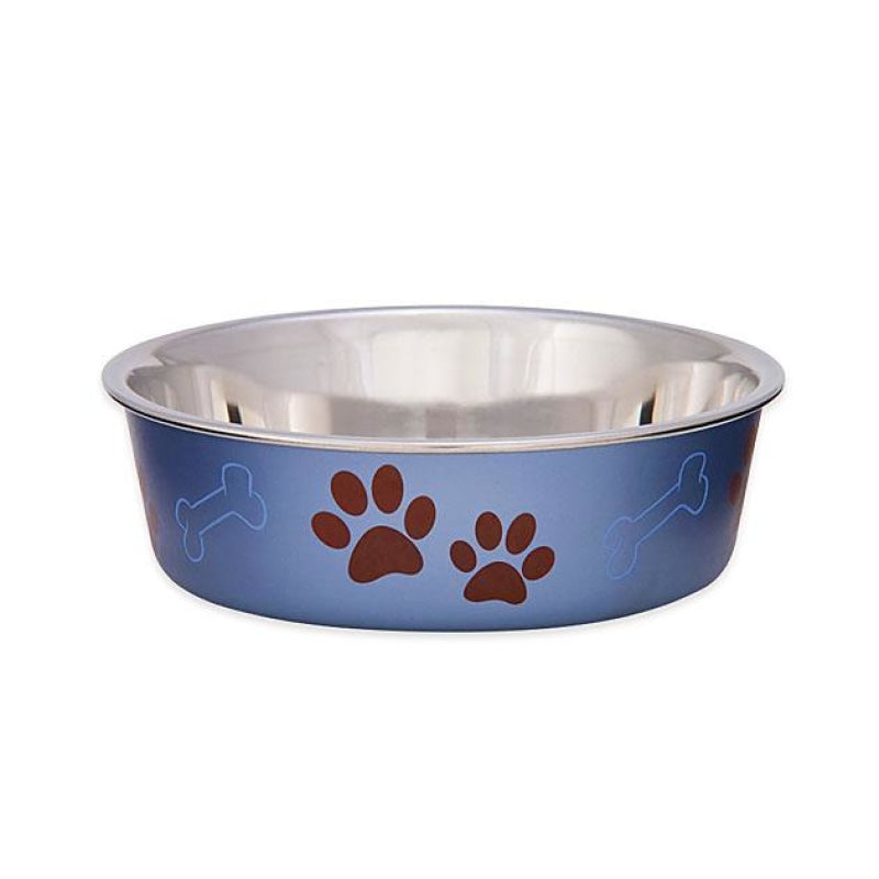 Loving Pets Bella Bowls Metallic Blueberry For Dogs & Cats