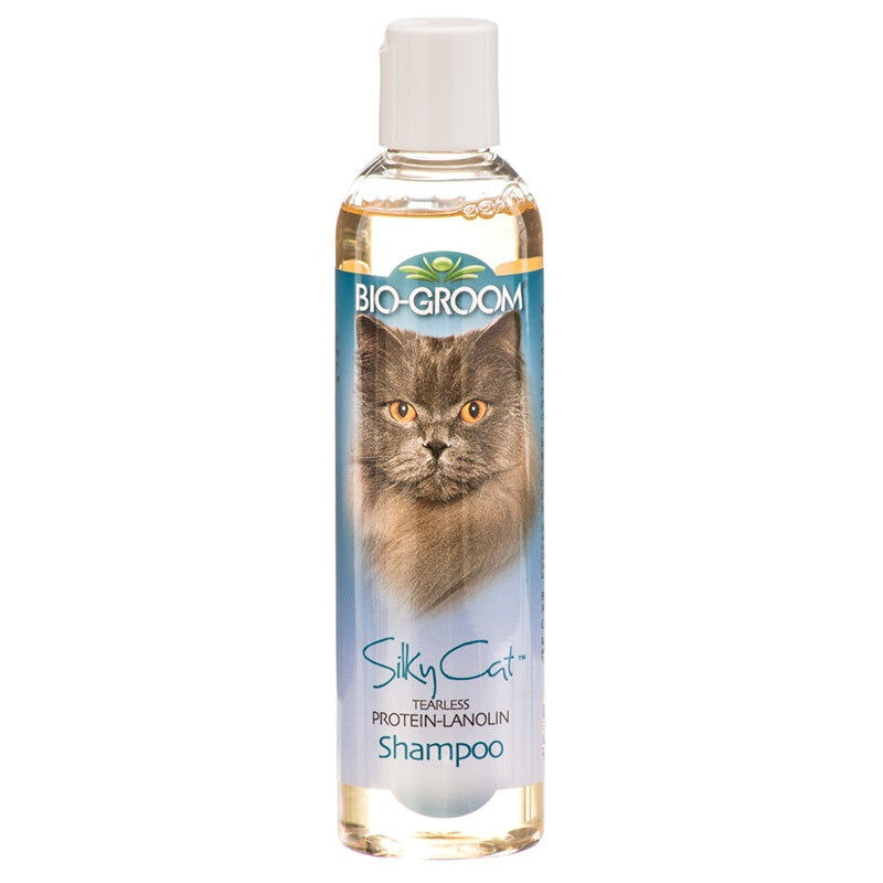 Bio-Groom Shampoo Silky Cat Tearless Protein-Lanolin For Cats 8oz