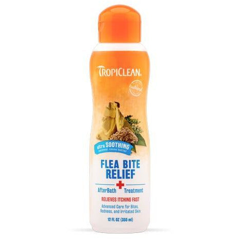 Tropiclean Natural Flea & Tick Bite Relief (After Bath Treatment) For Dogs & Cats 355ml