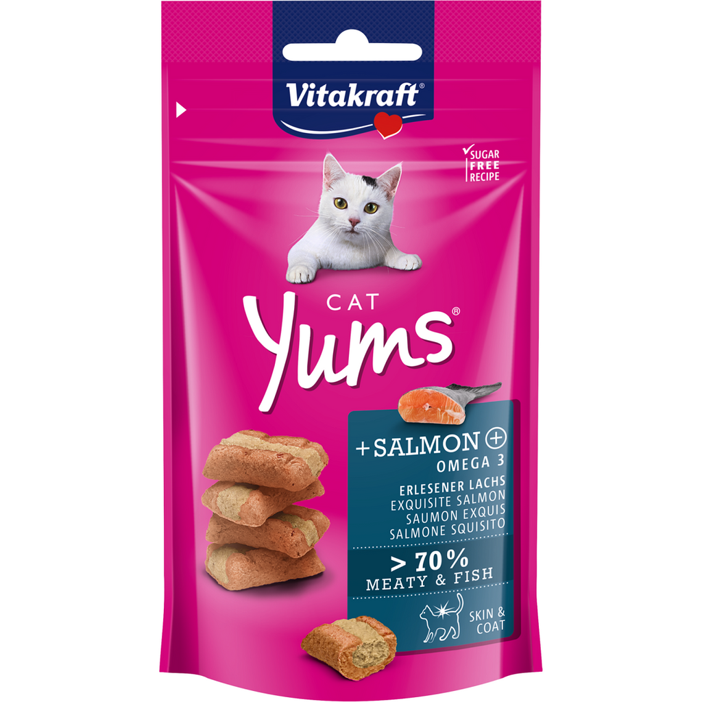 Vitakraft Cat Yums Salmon & Omega 3 40g