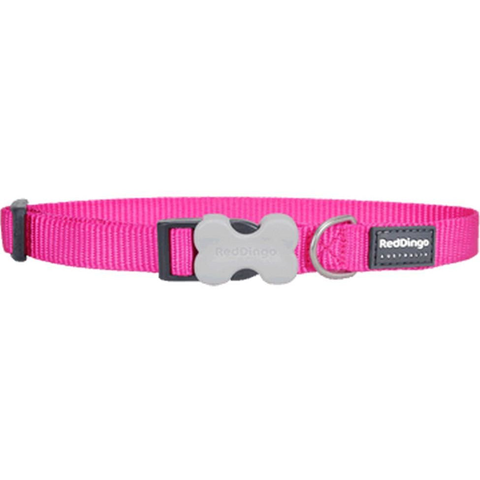 Red Dingo Bucklebone Collar (L) Hot Pink