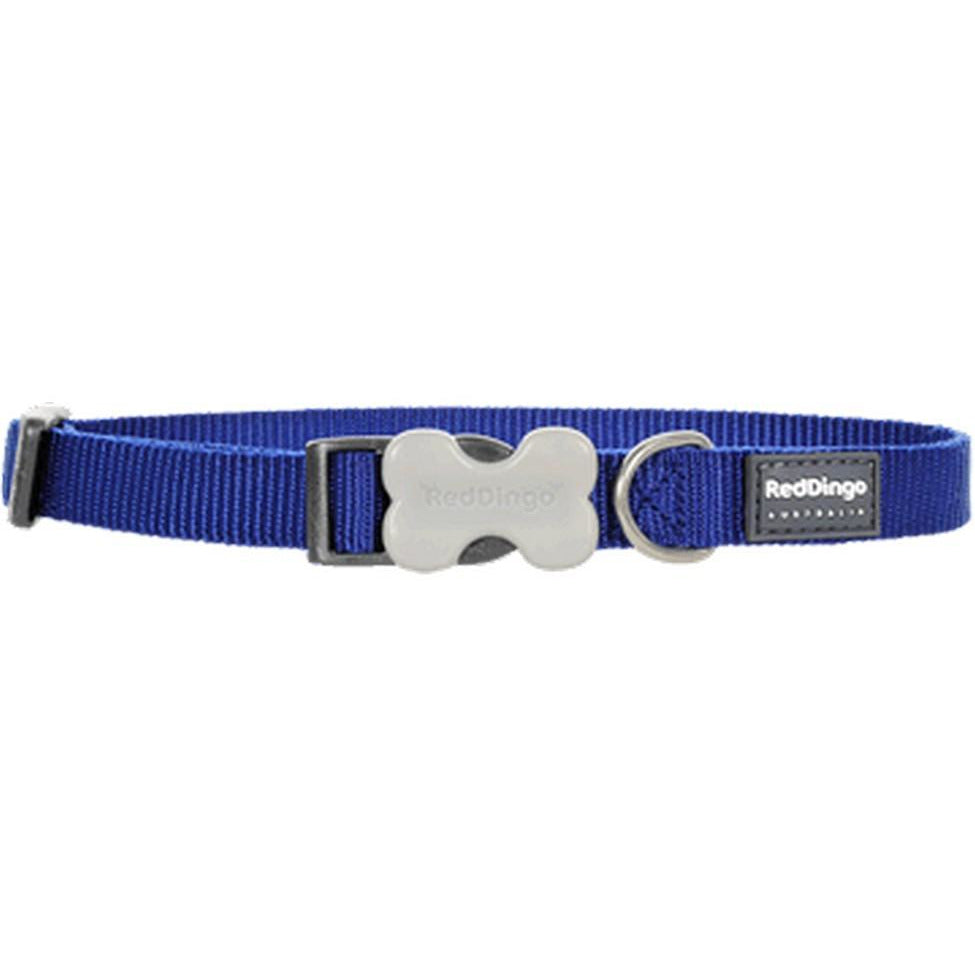 Red Dingo Bucklebone Collar (15mm) Dark Blue