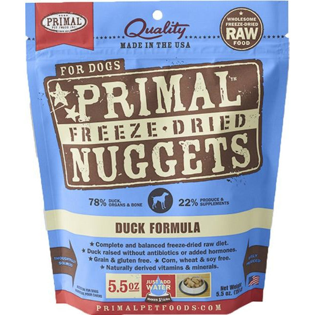 Primal Duck Nuggets Freeze Dog Dried Food 156g