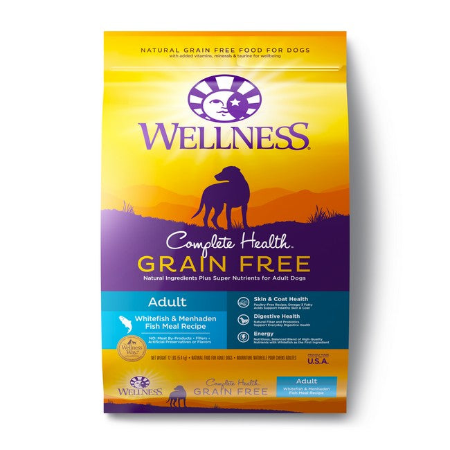 Wellness Complete Health Grain Free Adult Whitefish & Menhaden Fish Meal Dog Dry Food 24Lb